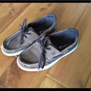 Sperry brown leather top sider shoes size 3M